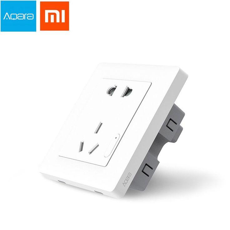 Xiaomi Aqara Smart Wall Enchufe Interruptor de control de luz ZiGBee APP Wireless Control remoto Plug