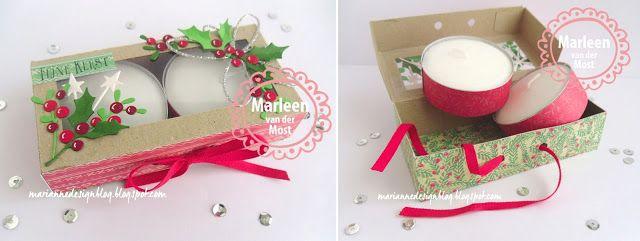 Marianne Design Blog: Kerst kaarsjes kadoosje