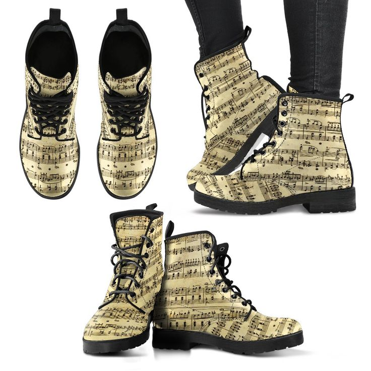 New in our shop! Sheet Music Shoes,  Womens Boots http://oompah.shop/products/sheet-music-womens-boots