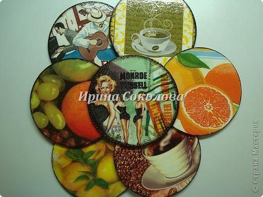 Подставки под чашки из CD- дисков