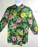 Ralph Luaren size L Linen Tunic Length Tropical Print Mandarin Collar Top Shirt  $29.99 Free Shipping!
