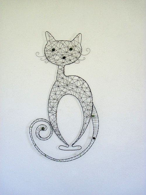 Beautiful wire cat