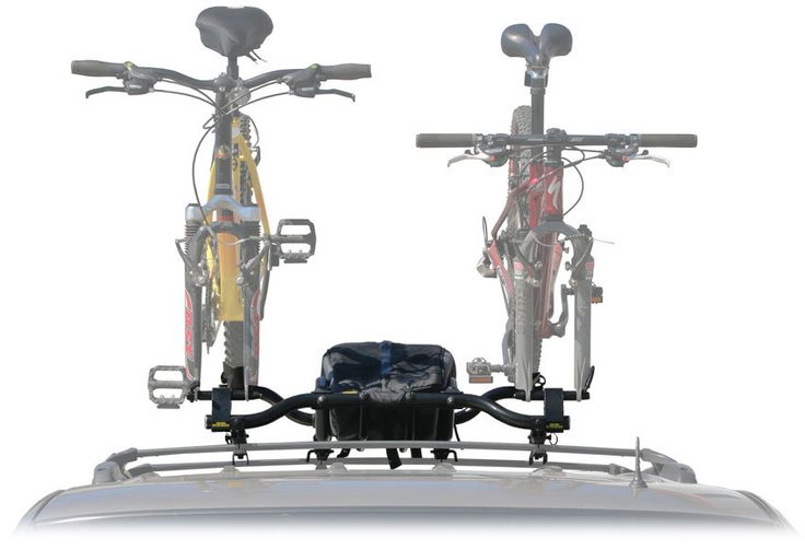 double bike rack with a built in cargo roof rack