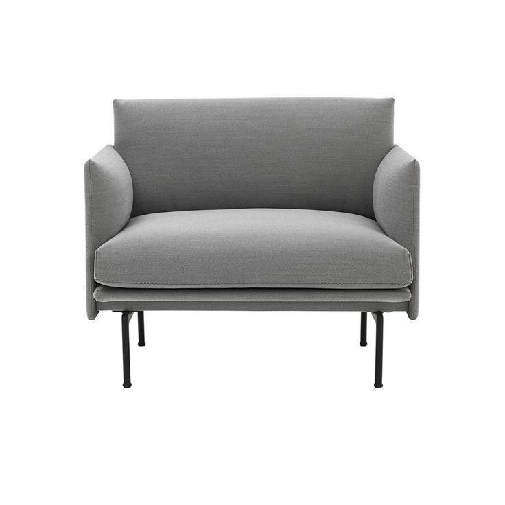 Fauteuil Outline Steelcut Trio 133 - Muuto - Après le succès du canapé Outline lancé en 2016, le studio Anderssen & Voll signe un fauteuil design qui reprend la silhouette élancée de son modèle. Dans une déclinaison de matières en accord avec les exigences de l'intérieur contemporain, le fauteuil Outline se révèle comme un siège résolument confortable. Une pièce d'exception qui s'invite aisément au coeur du salon !