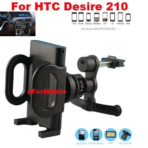 Автомобильный держатель вентиляционное отверстие мобильный телефон автомобильный держатель вращающийся владельца мобильного телефона стенд для HTC Desire 210
