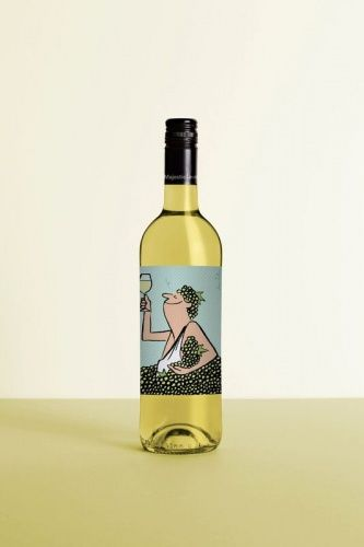 Labels illustrated by French graphic artist Jean Jullien to 'capture the cheeky side of wine'