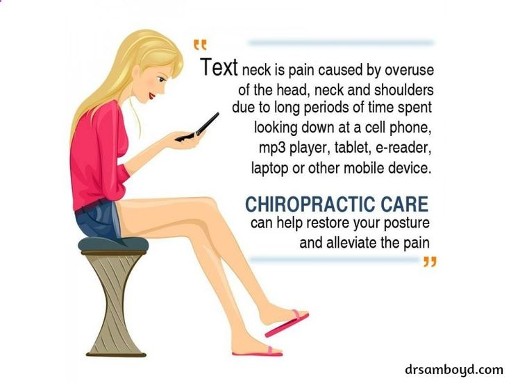 The distinct posture often seen in texting is causing an overuse syndrome in avid users that's been labeled text neck. #Chiropractic #Wellness #Posture #NeckPain #Spin #Body #Dysfunction #Lifestyle #ChineseMedicine #Health #Treatment #Dr_SamBoyd