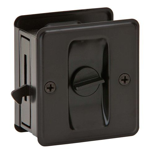 Powder Room: Ives by Schlage 991B-613 Sliding Door Pull Schlage Lock Company, Amazon.com ($9.36)