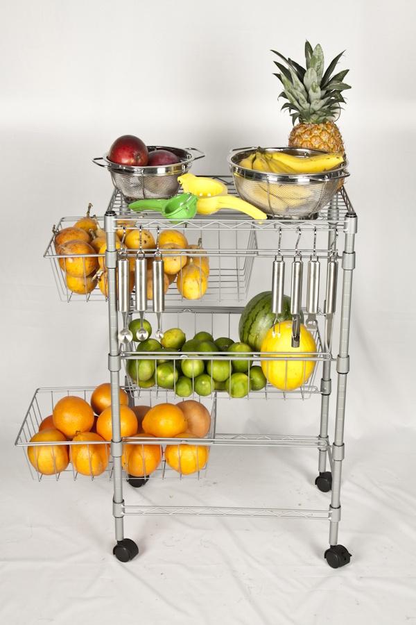 Almacena en un trolley tus frutas y verduras.