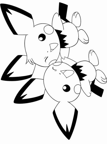 Beau Pokemon Pichu Coloring Pages