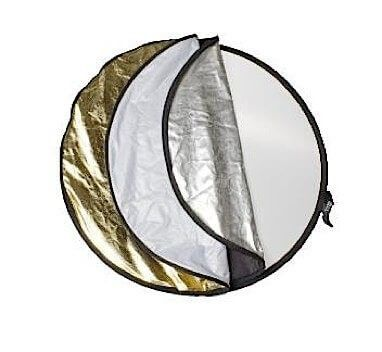 $99.90 Collapsible Reflector Disc - 5 in 1 - 110cm | Cameras Direct Australia