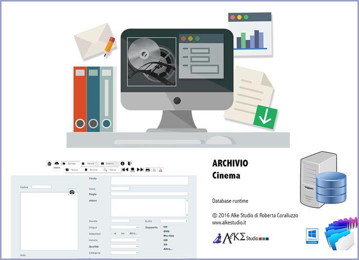 database Cinema software scaricabile gratuitamente, per archiviare i titoli dei propri home video  www.alkestudio.it Facebook @alkestudiosalerno