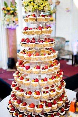 Hochzeitstorte aus Muffin