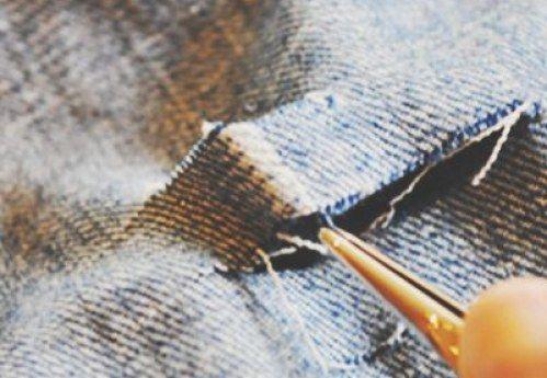 Destroyed Jeans selber machen: Anleitung  Schritt 4