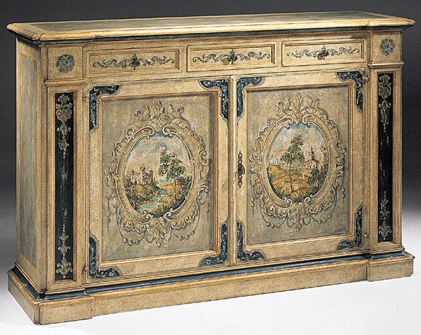 Image detail for -hand-painted Venetian style credenza