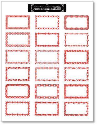 22 best red bordered labels gummed vintage label printables images living life as art free printable artist made gift tags over 135 sheets worth negle Images