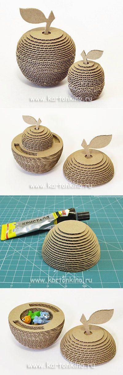 Интересные поделки из картона: 3D яблоки с сюрпризом   КАРТОНКИНО.ru   елена   Постила