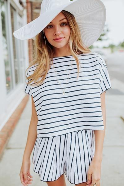Stripe Pier Top