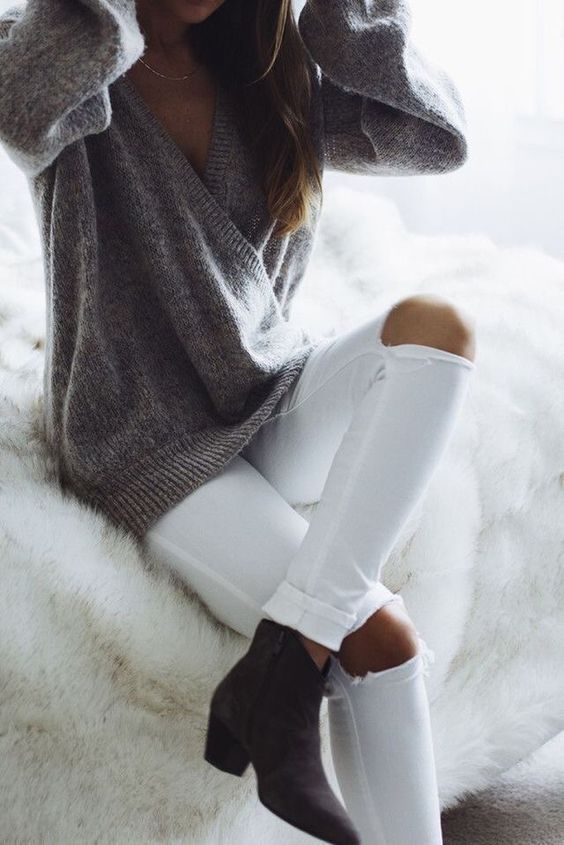 My #whitejeans are my signature.. especially in winter...love breaking the rules...<3 <3
