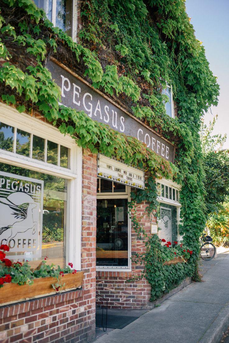 Pegasus Coffee, Bainbridge Island...must visit...after I visit Dan's incredible garden