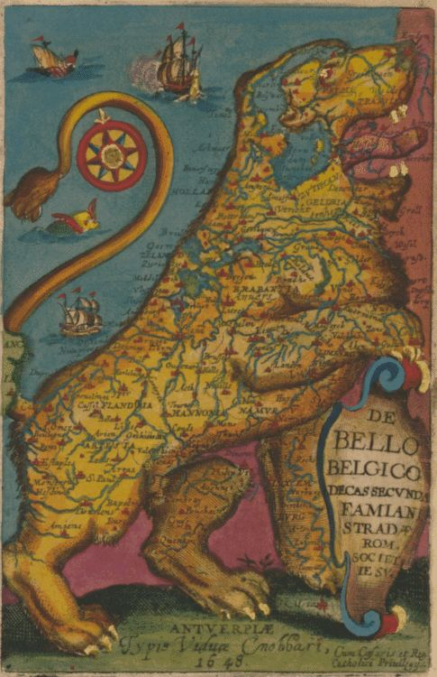 This map of Belgium is a motherfucking lion; your argument is invalid.  (Famiano Strada (Italian, active 1632-1640; Untitled aka Leo Belgicus. 1648)