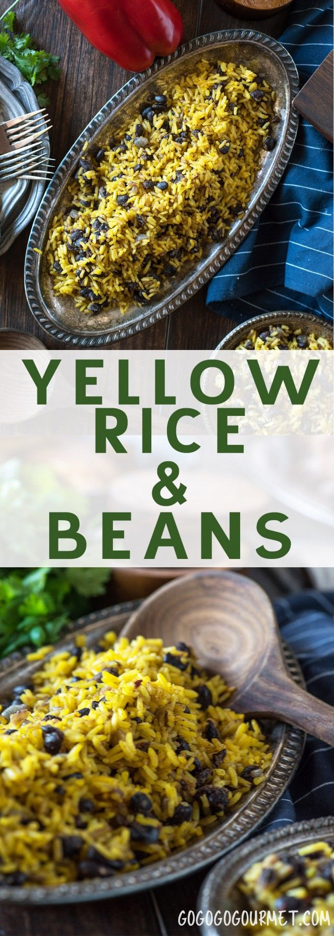 Yellow Rice and Black Beans is the perfect side dish for so via @gogogogourmet