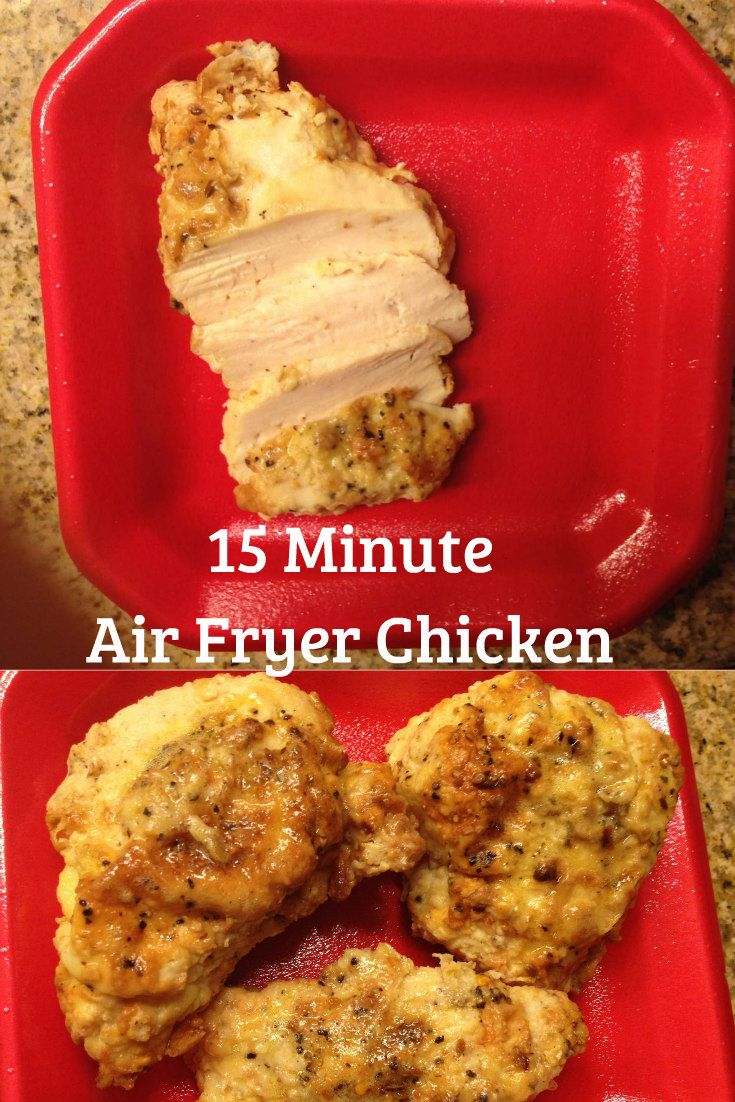 Crispy on the outside and juicy on the inside. My husband usually does not like chicken but he loved these. My air-fryer is now my favorite way to cook. So easy and so VERY fast. Plus less mess. I love it with Mac N' Cheese. Print 15 Minute Air Fryer Chicken Ingredients 1 large chicken …