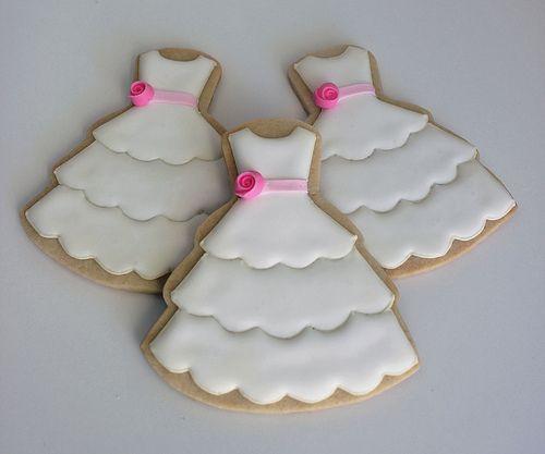 flower cookiesd | Flower Girl Dress Cookies |