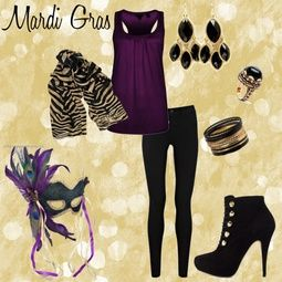 Mardi Gras Outfit-YES! @misskaylaw @iitsteph