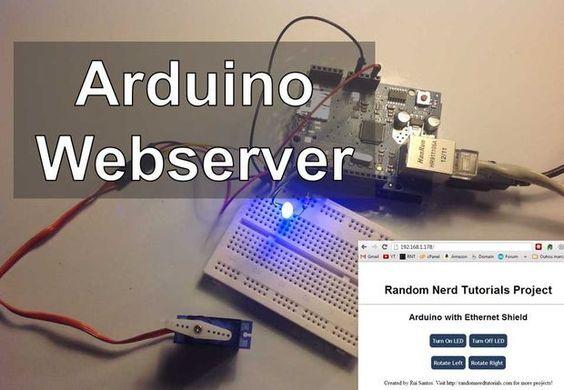 Arduino Webserver Control Lights, Relays, Servos, etc... by RuiSantos