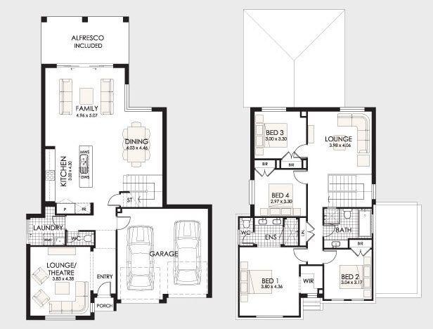 planos de casas bonitas de dos pisos