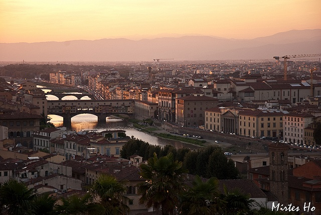 Sunset at Piazza Michelangelo, Florence, Italy