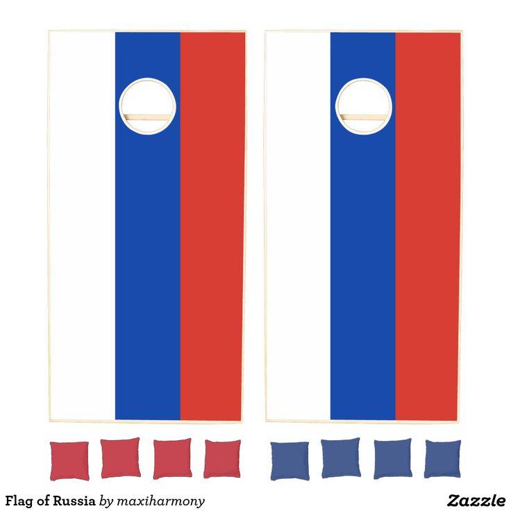 Flag of Russia Cornhole Set