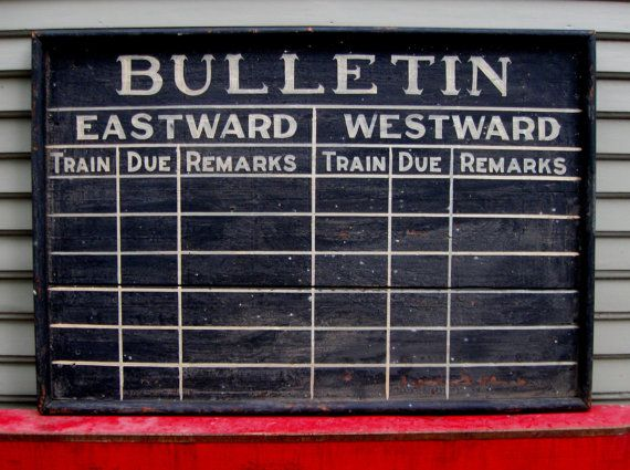 Train Sign...that got off track. - Knick Of Time