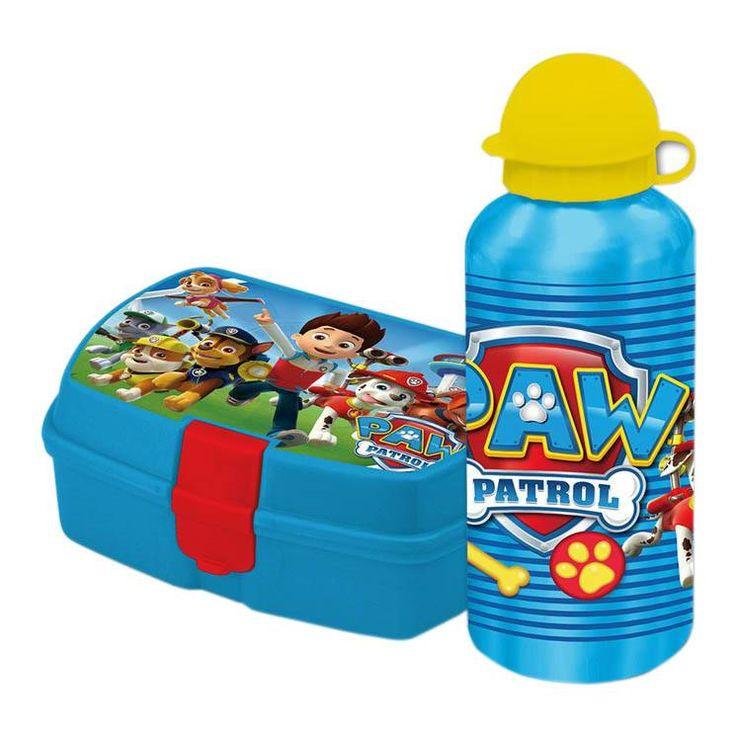 Paw Patrol Lunchbox met Aluminium Drinkfles