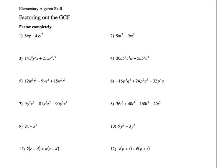 10 best geft images on pinterest group image and algebra factoring polynomials gcf fandeluxe Image collections