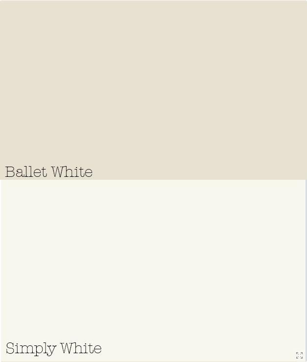 Benjamin Moore Ballet White Amp Simply White Pretty