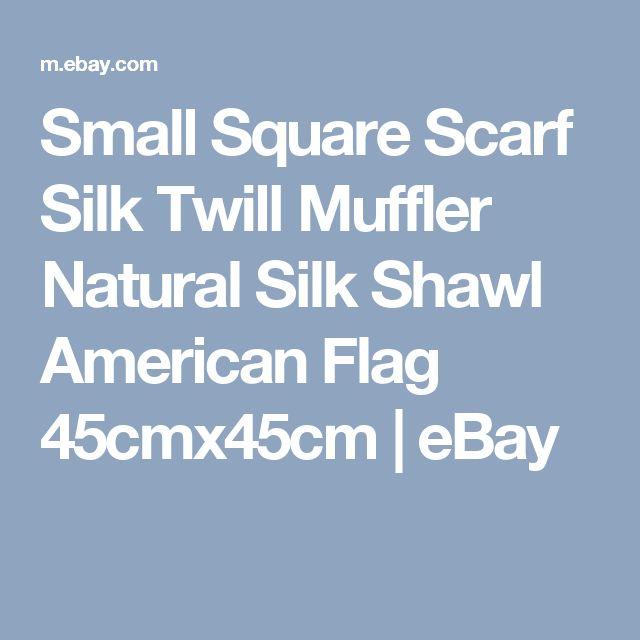 Small Square Scarf Silk Twill Muffler Natural Silk Shawl American Flag 45cmx45cm  | eBay