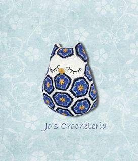 Maggie the African Flower Owl Crochet Pattern by Jo's Crocheteria