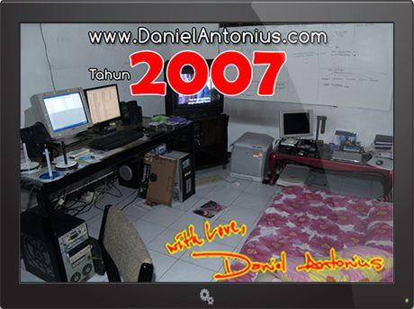Ruang Kerja Pribadi Daniel Antonius Tahun 2007
