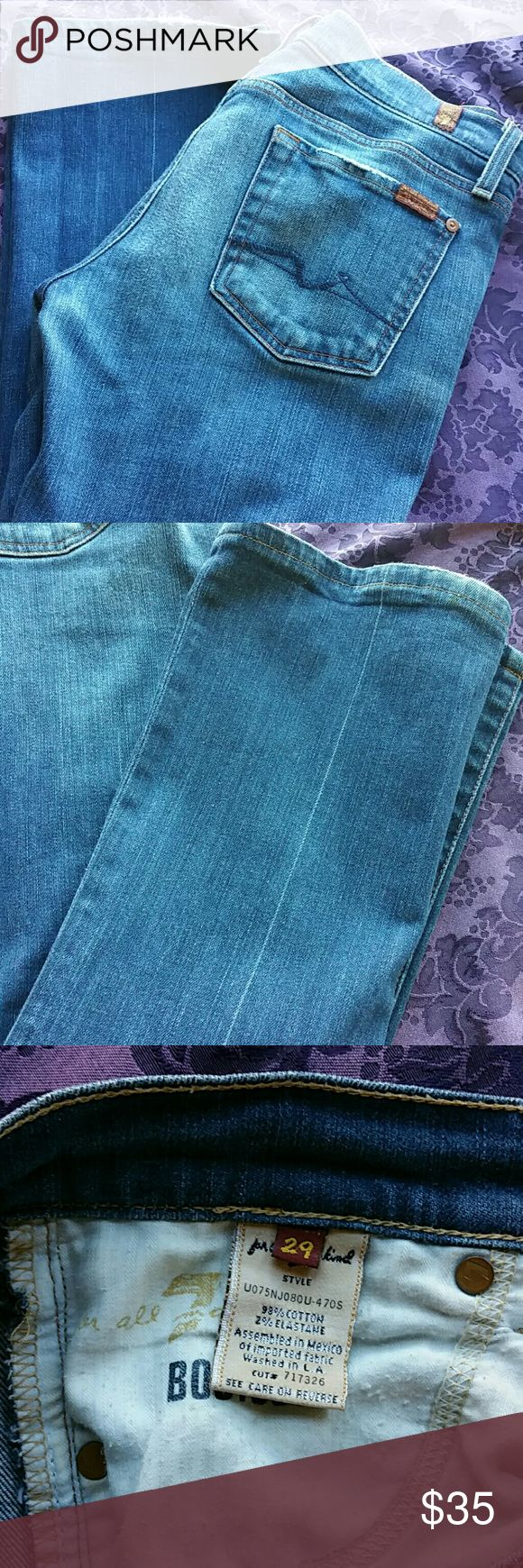 Seven Jeans Seven jeans, plenty of ware left, no holes, boot cut, size 29. Regular length, I'm 5,5 and they are perfect. Seven7 Jeans Boot Cut