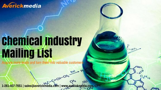 Chemical Industry Mailing Lists is detailed and comprehensive, email and tele-verified, permission based, accurate and up-to-date and developed with utmost precision and adherence to client business needs.