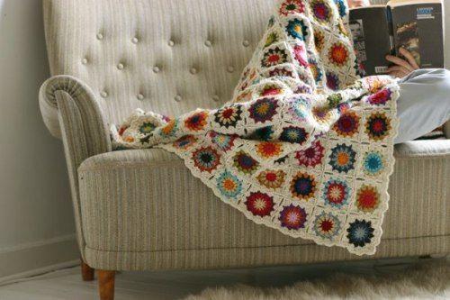 colcha crochet cuadrados tradicional - Buscar con Google