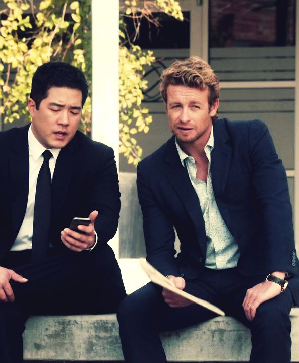 Perfect photo !Consultant Patrick Jane and Agent Kimball Cho