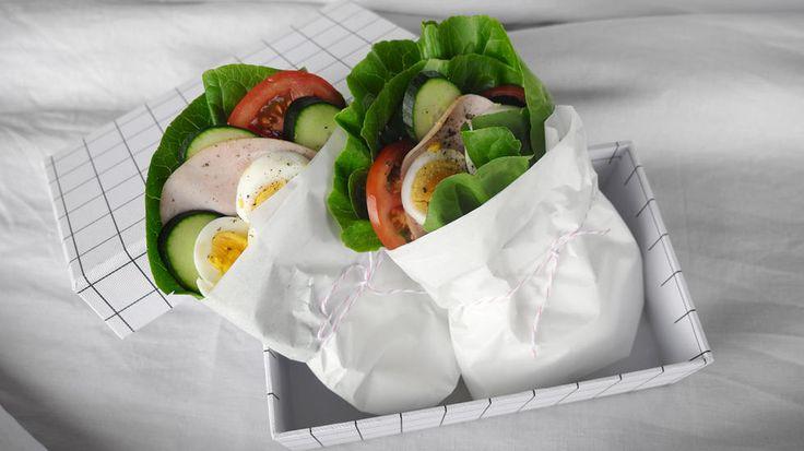 Matpakketips: Salatblingser eller salatwrap