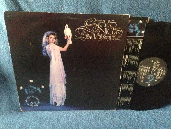RARE Vintage Stevie Nicks  Bella Donna Vinyl LP by sweetleafvinyl