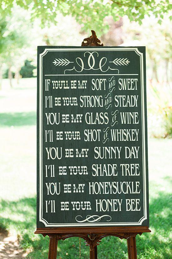 Fun and cute wedding sign.