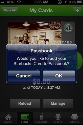 How To Put Your Starbucks Card On The iPhone's Passbook App pinned by Noah