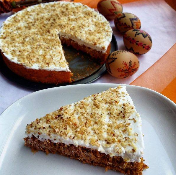Mrkvový dort (bez mouky)