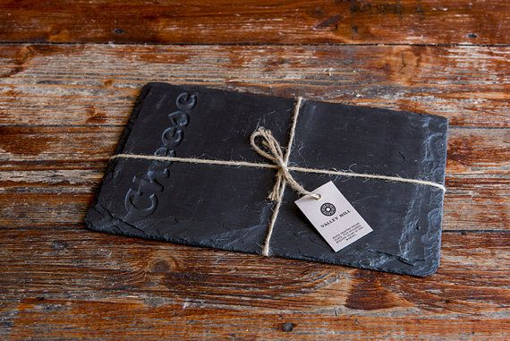 Hand crafted Welsh Slate Cheese Board.    Our slate is widely regarded as the finest quality slate in the world, which is manually mined from the